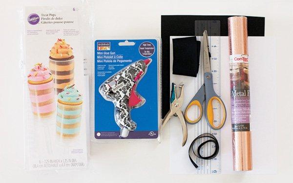 DIY Tuxedo Confetti Popper Supplies