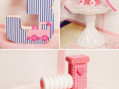 DIY pink wafer cookie and lifesaver candy train