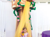 DIY rapunzel party tower