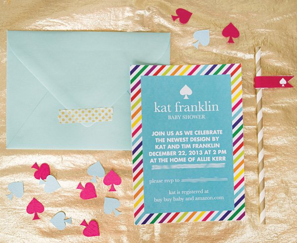 kate spade inspired baby shower invitations