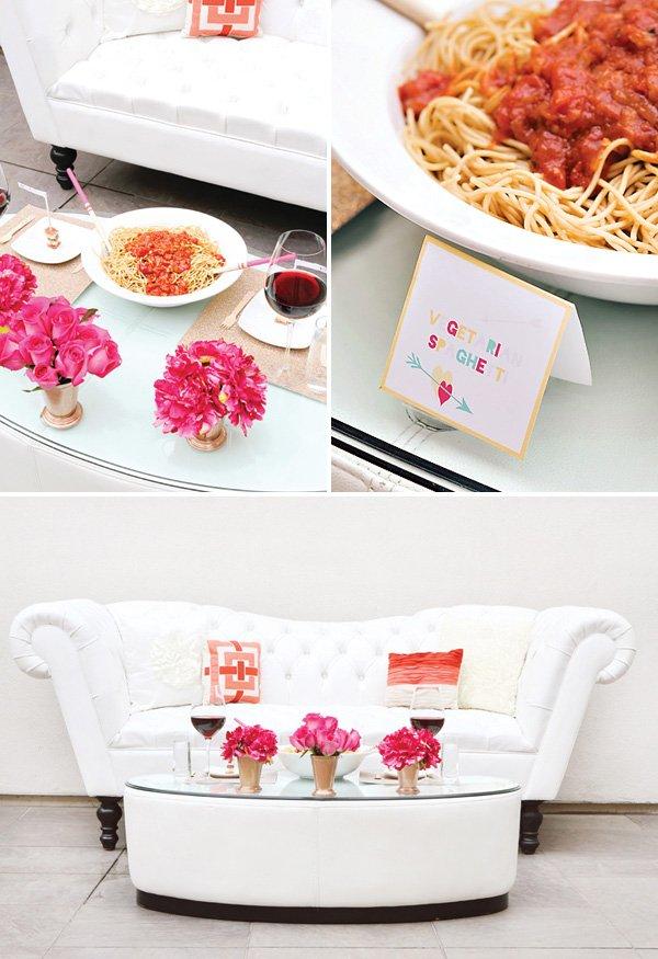 vegetarian spaghetti recipe for a romantic valentines day dinner date