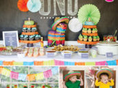 twin's mexican fiesta birthday party