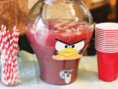 red angry birds drinks dispenser