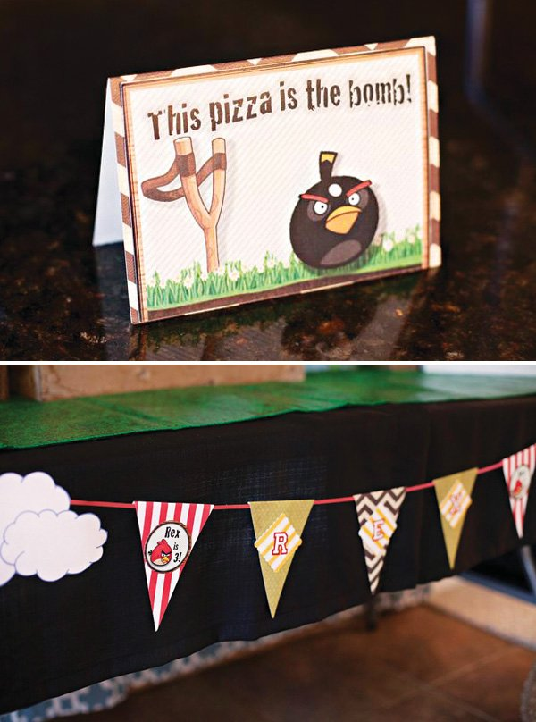 angry birds themed party printables tent cards and banner