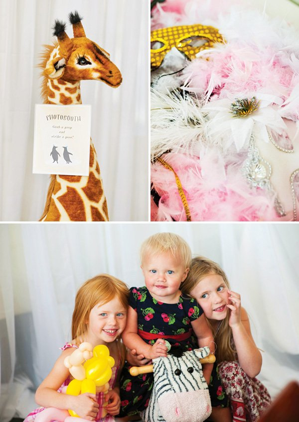 plush animal photo booth props