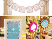 kate spade gender neutral baby shower party printables