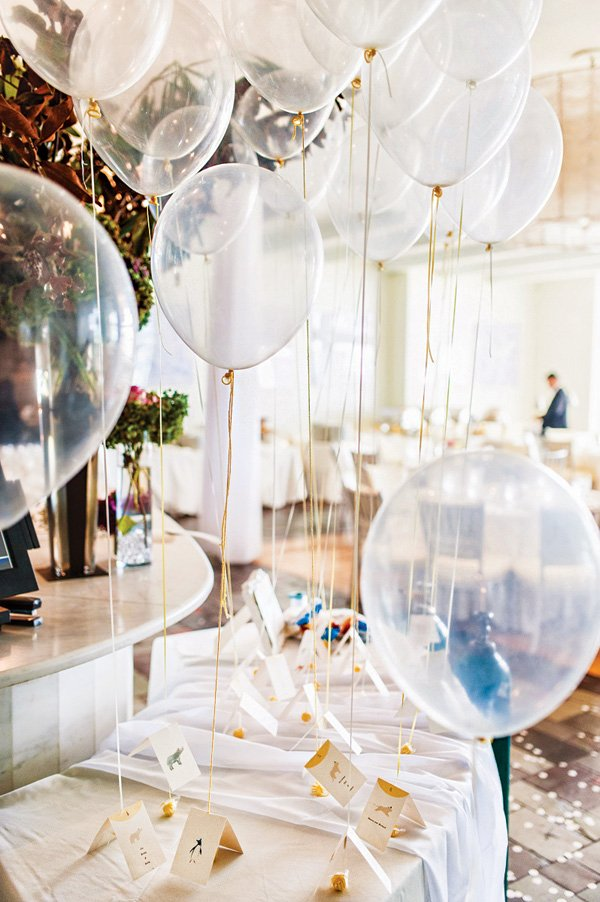 balloon place cards
