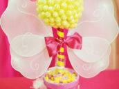 bumble bee or bug candy topiary table centerpiece