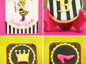 bumble bee birthday themed desserts and signs