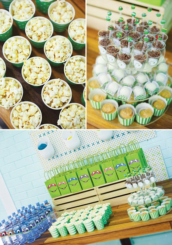kid's birthday party snack table