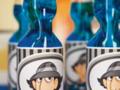 inspector gadget printables on blue soda bottles
