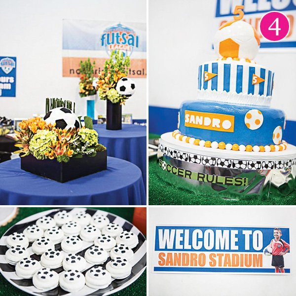 boy's soccer themed birthday party