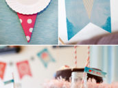 cake and ice cream cone themed party printables