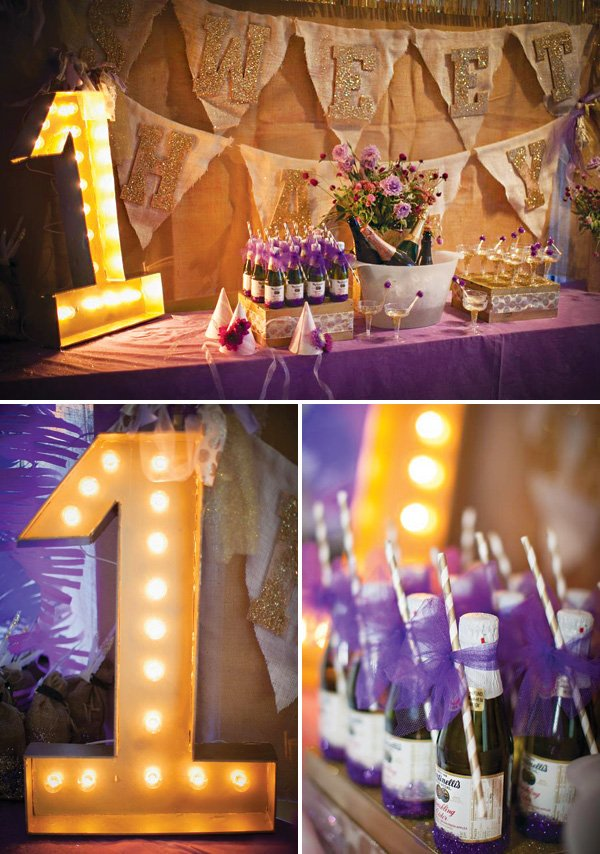 champagne and apple cider table with marquee 1