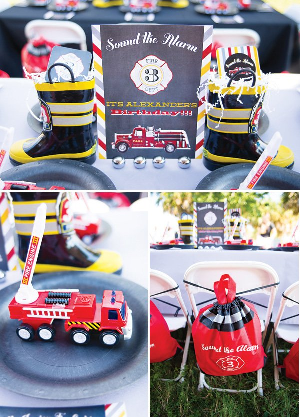 fire alarm kids table decor