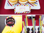 fire fighter themed party desserts