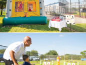 fire fighter party activity bounce house