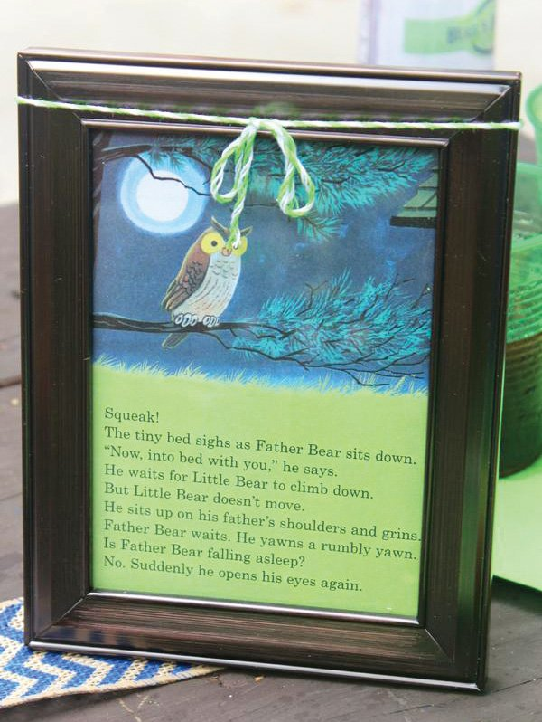 framed story book page party decor