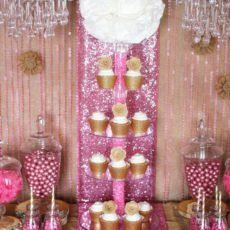 gold-cupcake-display