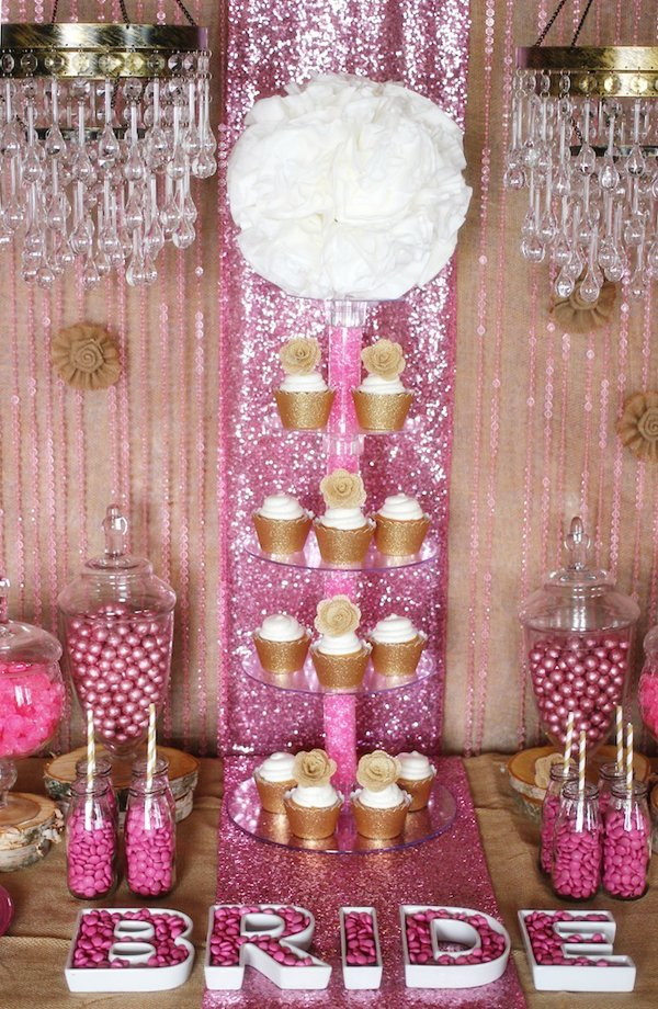 Trend Alert Rustic Glam Pink Amp Gold Dessert Table