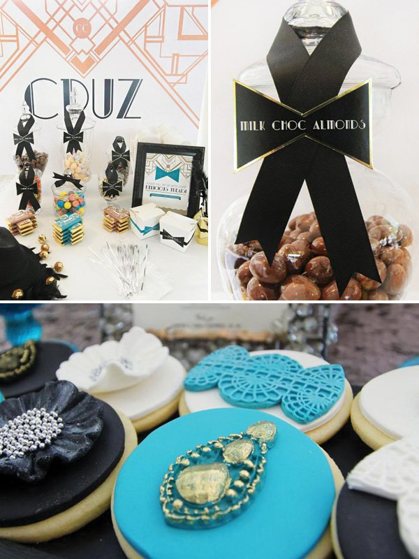 great gatsby, roaring 20s party desserts