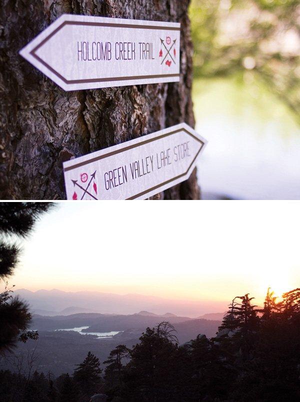 green valley lake vacation and sign