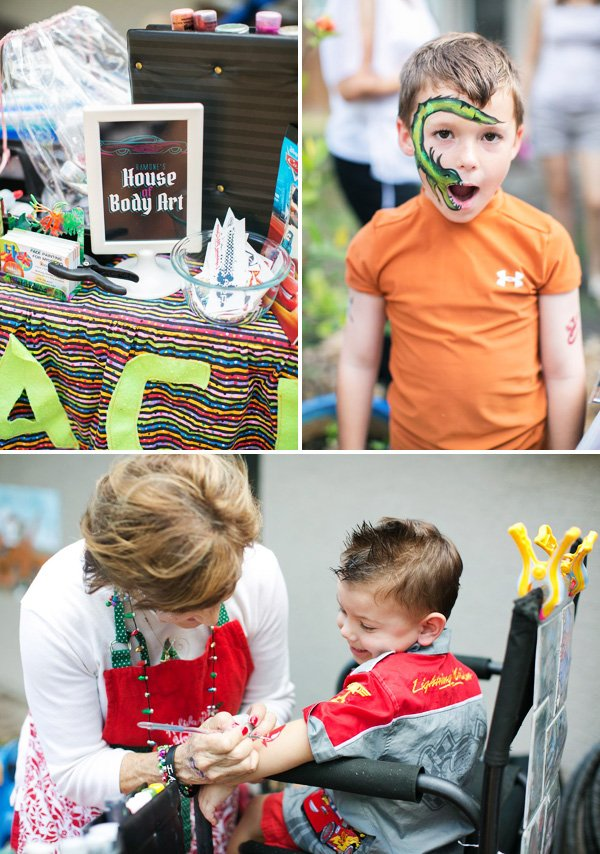 house of body art face and body painting for kids parties