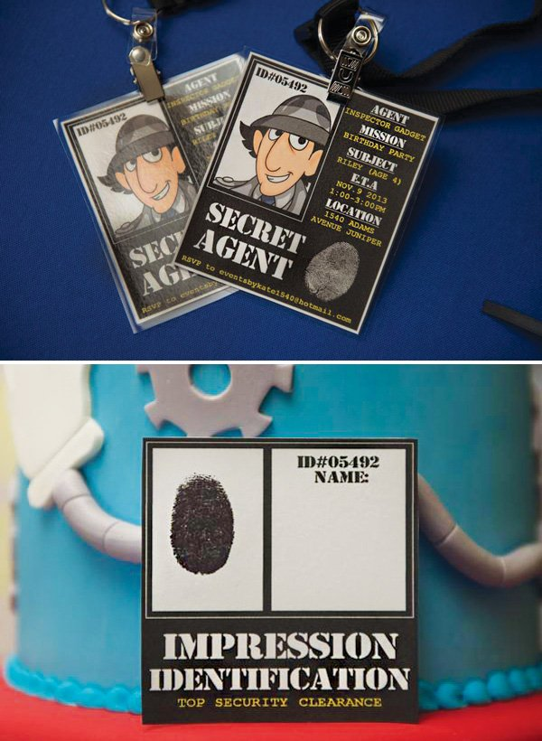 inspector gadget party printables
