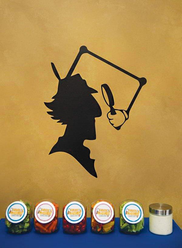 inspector gadget silhouette wall decal