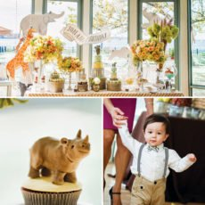 big 5 jungle animals and carnival themed first birthday party
