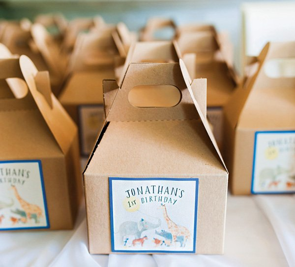 jungle animal party favor boxes