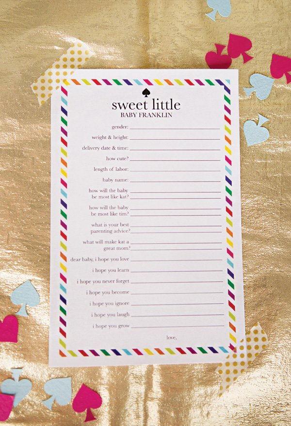 kate spade inspired baby shower printable games