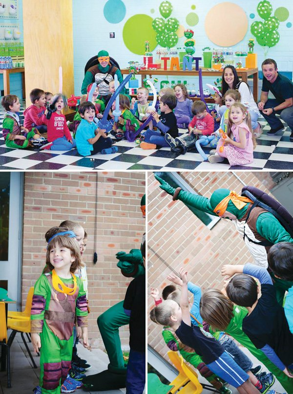 kid's teenage mutant ninja turtle birthday party games and activities