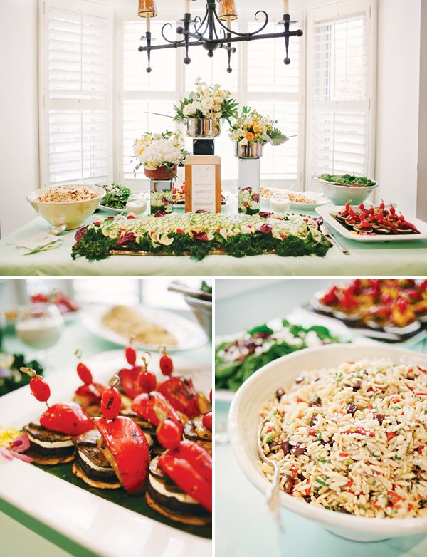kitchen themed bridal shower food table