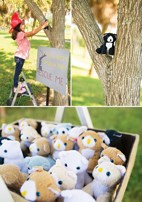 kitty rescue from a tree party game