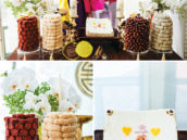 Korean dol sweets table and traditional outfits