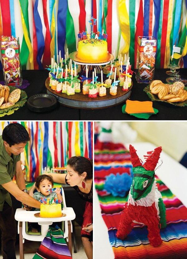 mexican fiesta first birthday party decor