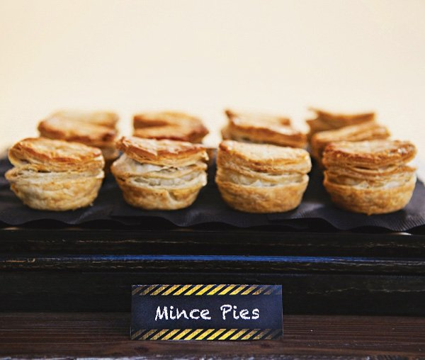 mini mince pies and other party food