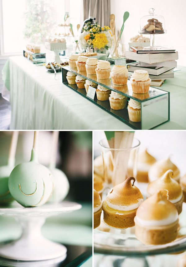 mint bridal shower desserts