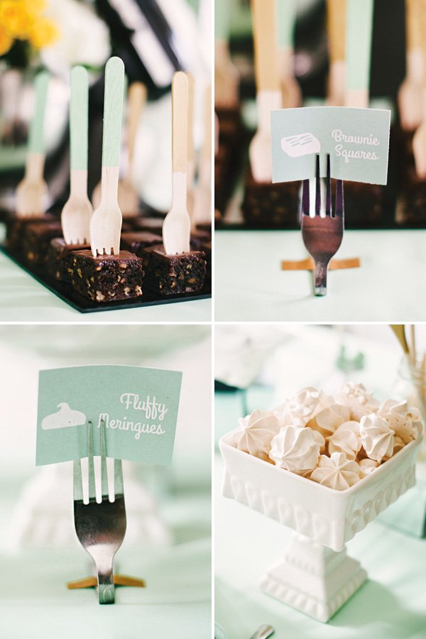 mint shower mini desserts
