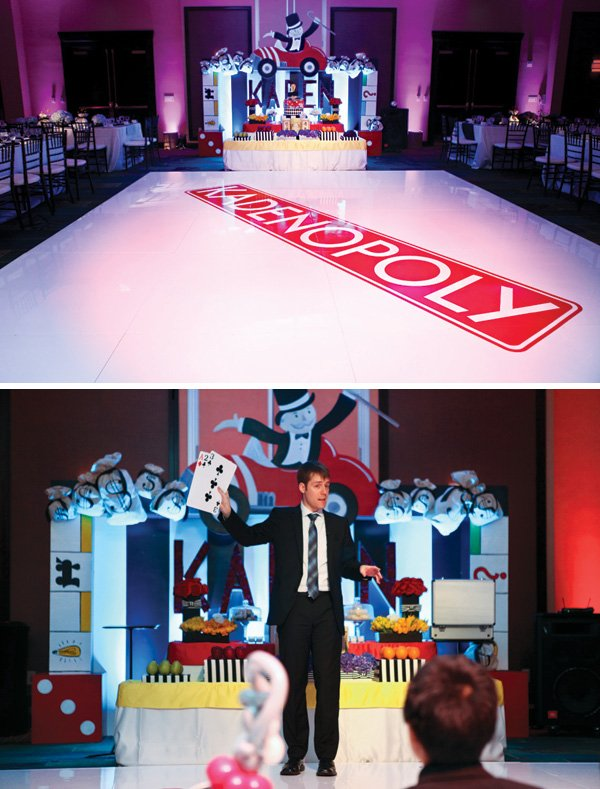 a monopoly board stage and party entertainment