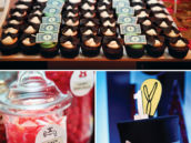 money and bow tie topped cupcakes and other monopoly themed desserts