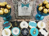 ornately decorated and glamorous sugar cookies