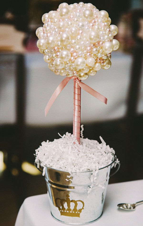 pearly topiary centerpiece