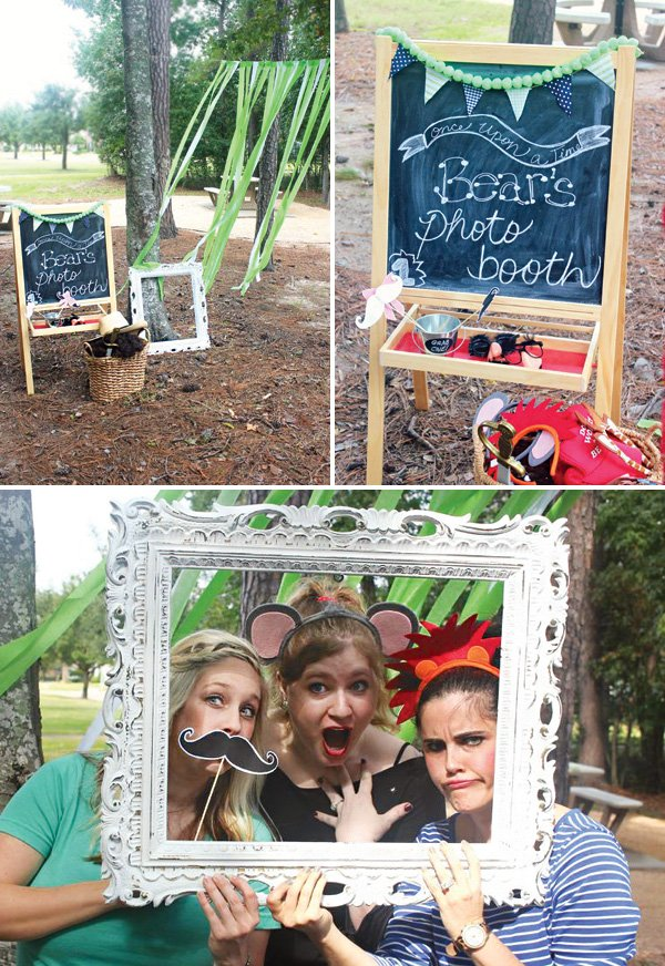outdoor photo booth party props