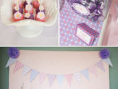 pink and purple party decor