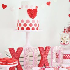 pink and red cake valentine's day