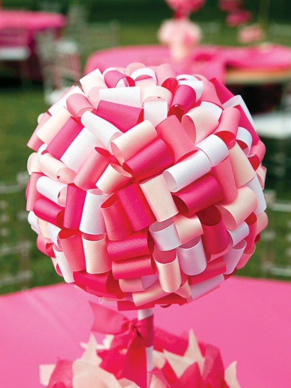 folded ribbon balloon centerpiece
