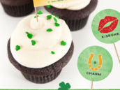 Free Printable St. Patricks Day Party Circles and Party Flags