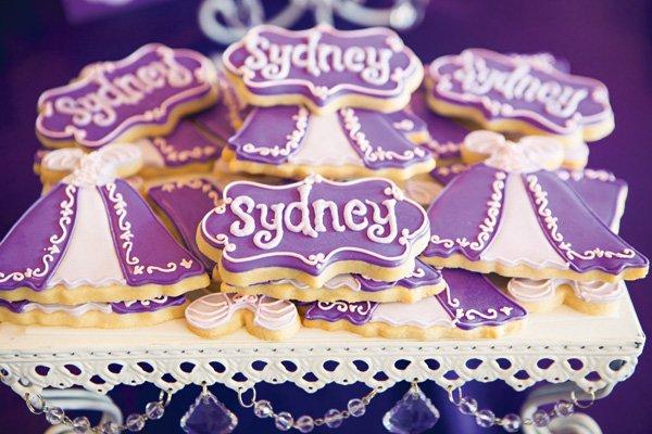 purple princess cookies